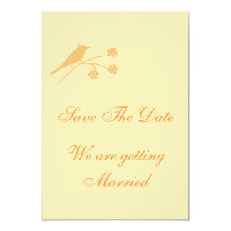 """Ahorre el boda clásico de la fecha inmóvil invitación 3.5"""" x 5"""""""