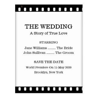 Ahorre el boda de la fecha con un tema de la postales