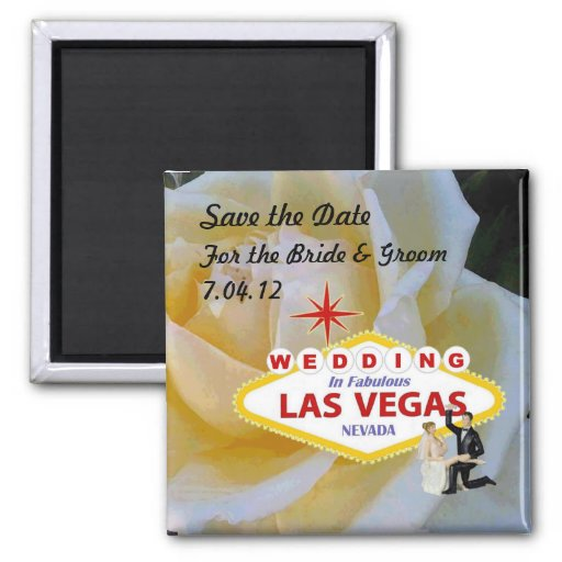 Ahorre el boda de la fecha en el imán de Las Vegas