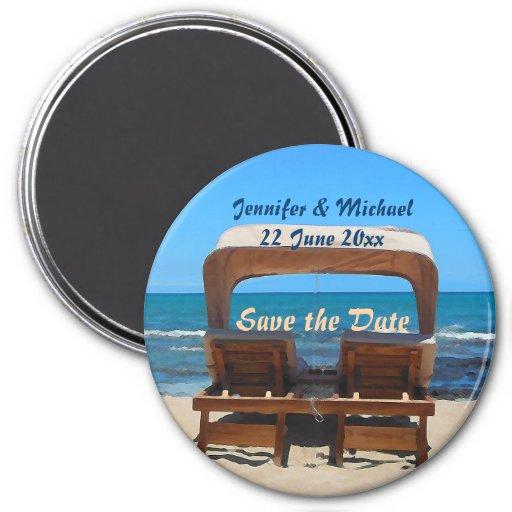 Ahorre el boda de playa de la fecha imán