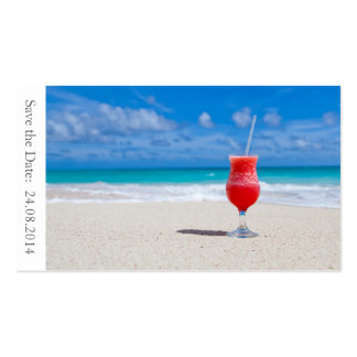 Ahorre el boda de playa de la fecha - tarjeta de tarjetas de visita