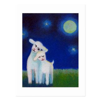 AHORRE el boda del AMOR de la luna de las ovejas Postales