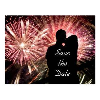 Ahorre el boda del compromiso de la fecha tarjetas postales