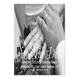 Ahorre el boda personalizado plantilla de la foto invitaciones magnéticas