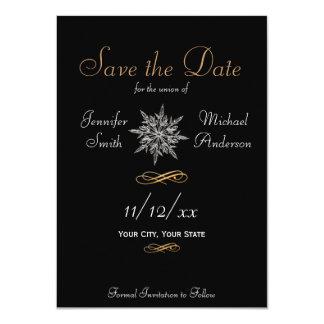 """Ahorre el boda simple del copo de nieve del invitación 4.5"""" x 6.25"""""""