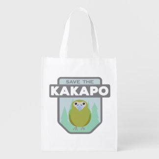Ahorre el bolso de compras reutilizable del Kakapo Bolsas Para La Compra