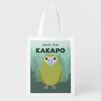 Ahorre el bolso de compras reutilizable del Kakapo Bolsas Reutilizables