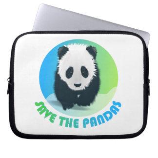Ahorre el bolso del ordenador portátil de las pand fundas portátiles