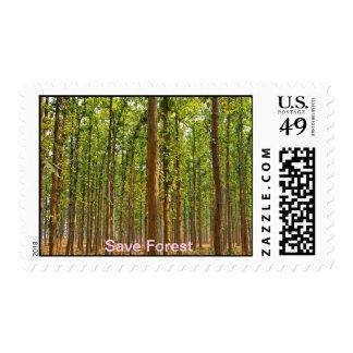 Ahorre el bosque sello