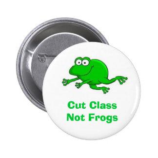 Ahorre el botón de las ranas pin