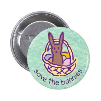 Ahorre el botón de los conejitos pin