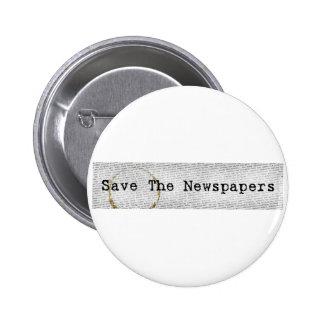 Ahorre el botón de los periódicos pin