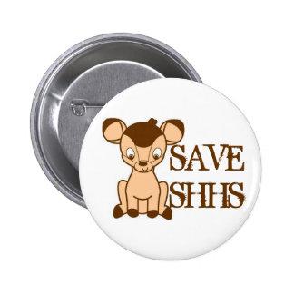 Ahorre el botón de SHHS Pin Redondo De 2 Pulgadas