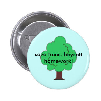 ahorre el botón del árbol pin redondo de 2 pulgadas
