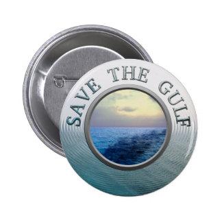 Ahorre el botón del golfo pin redondo de 2 pulgadas