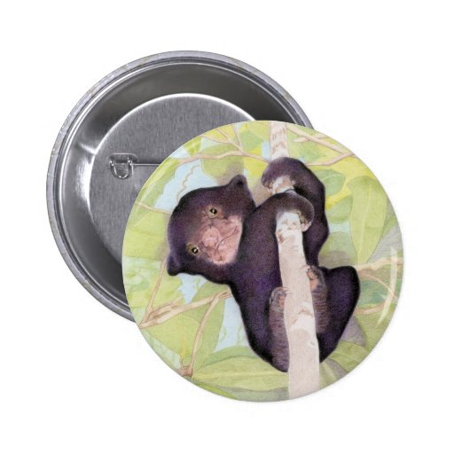 Ahorre el botón del oso de Sun Pin