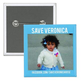 Ahorre el botón del Veronica Pin Cuadrado