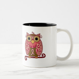Ahorre el búho de las sirenas taza de café de dos colores