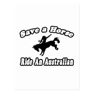 Ahorre el caballo australiano del paseo postal