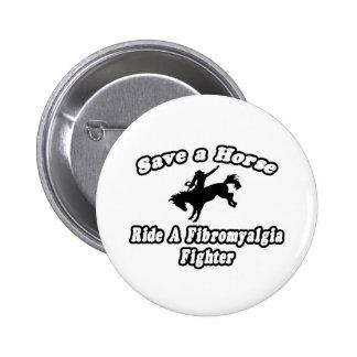Ahorre el caballo, combatiente del Fibromyalgia de Pin