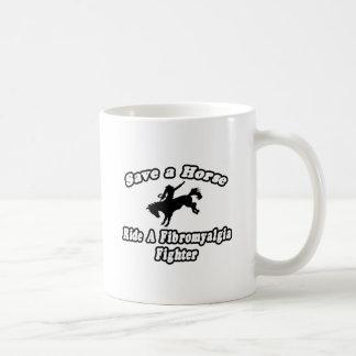 Ahorre el caballo, combatiente del Fibromyalgia de Taza De Café