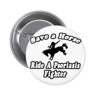 Ahorre el caballo, combatiente del psoriasis del p pins
