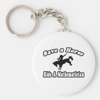 Ahorre el caballo, matemático del paseo llavero redondo tipo pin