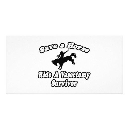 Ahorre el caballo, superviviente de la vasectomía  tarjetas fotograficas personalizadas