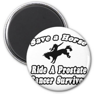 Ahorre el caballo, superviviente del cáncer de pró imanes