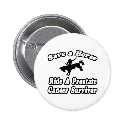 Ahorre el caballo, superviviente del cáncer de pró pins