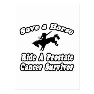 Ahorre el caballo, superviviente del cáncer de pró tarjetas postales