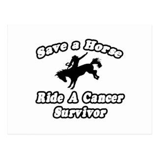 Ahorre el caballo, superviviente del cáncer del pa tarjeta postal