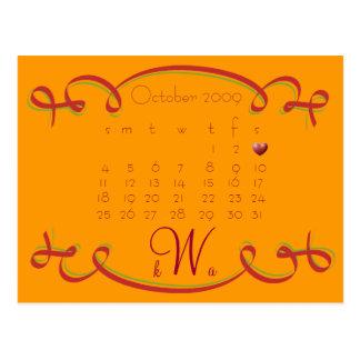 Ahorre el calendario de la fecha tarjetas postales