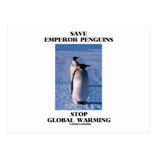 Ahorre el calentamiento del planeta de la parada d tarjeta postal