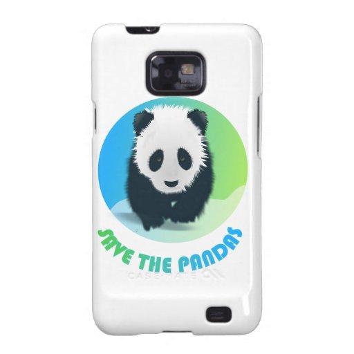 Ahorre el caso de Samsung de las pandas Galaxy SII Fundas