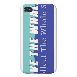 Ahorre el caso del iPhone 4 de las ballenas iPhone 4 Funda