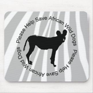 Ahorre el cojín de ratón africano en peligro de lo tapetes de ratón