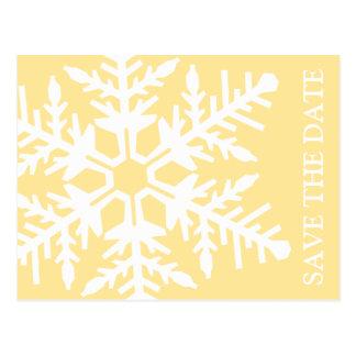 Ahorre el copo de nieve enorme de la fecha (amaril postales