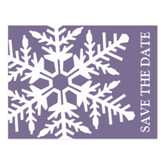Ahorre el copo de nieve enorme de la fecha (berenj tarjetas postales
