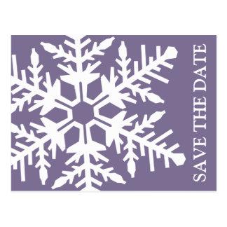 Ahorre el copo de nieve enorme de la fecha (berenj tarjeta postal