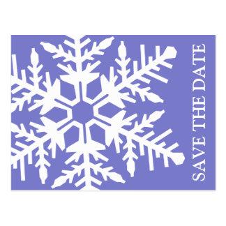 Ahorre el copo de nieve enorme de la fecha (ciruel postal