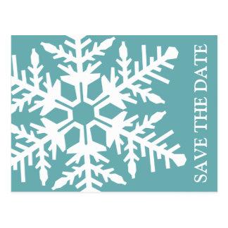 Ahorre el copo de nieve enorme de la fecha (espuma postal