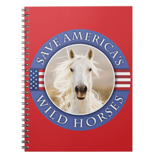 Ahorre el cuaderno de los caballos salvajes de Amé