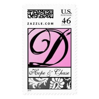 Ahorre el damasco de la fecha en el boda rosado de