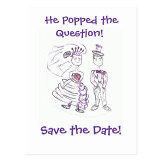 Ahorre el Date/He hizo estallar la pregunta Tarjetas Postales