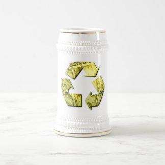 Ahorre el dinero reciclan la cerveza Stein Tazas