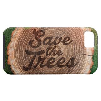 Ahorre el diseño inspirado de los árboles funda para iPhone SE/5/5s