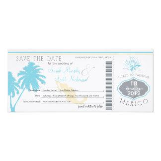 Ahorre el documento de embarque de la fecha a invitacion personalizada