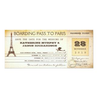 ahorre el documento de embarque de la fecha a invitaciones personales