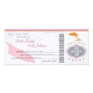 Ahorre el documento de embarque de la fecha a invitación 10,1 x 23,5 cm